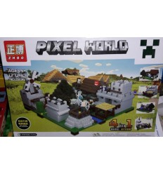 Конструктор Minecraft Pixel World ZB361 4в1 1271 деталь