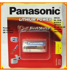 Батарейка 3v CR123A Panasonic LITHIUM POWER