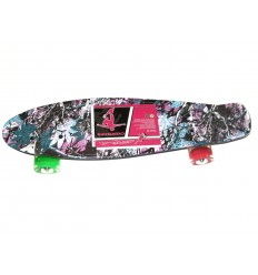 Скейт Profi Penny Board LED MS0748-6 Print